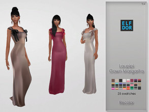 Sims 4 — Laupipi Gown Margarita Recolor by Elfdor — Its a standalone recolor of Laupipi dress and you will need the