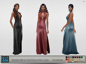 Sims 4 — Belaloallure Mai Dress Recolor by Elfdor — Its a standalone recolor of Belaloallure dress and you will need the