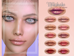 Sims 4 — [ Milkshake ] - Lip Colour by Screaming_Mustard — A new simple glossed lip colour. For females, teen +. With