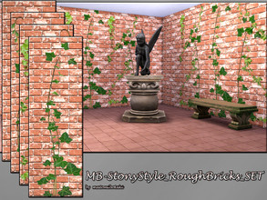 Sims 4 — MB-StonyStyle_RoughBricks_SET by matomibotaki — MB-StonyStyle_RoughBricks_SET, rought brick wall texture set,