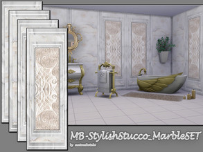 Sims 4 — MB-StylishStucco_MarbleSET by matomibotaki — MB-StylishStucco_MarbleSET, luxury marble wall siding set, come in