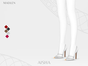 Sims 4 — Madlen Aisha Shoes by MJ95 — Mesh modifying: Not allowed. Recolouring: Allowed (Please add original link in the