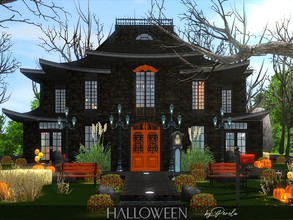 Sims 3 — Halloween by perolasims — Beautiful Halloween style home for your Sims to have fun! It has two living rooms,