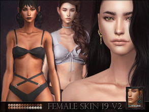 Sims 4 — Female Skin 19 - V2 - less defined ribs by RemusSirion — Many asked for a version of female skin 19 without the
