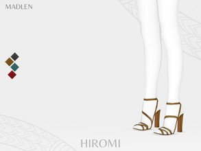 Sims 4 — Madlen Hiromi Shoes by MJ95 — Mesh modifying: Not allowed. Recolouring: Allowed (Please add original link in the