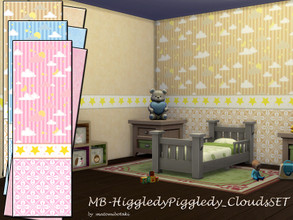 Sims 4 — MB-HiggledyPiggledy_CloudsSET by matomibotaki — MB-HiggledyPiggledy_CloudsSET, 2 lovely matching wallpapers for