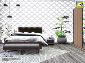 Sims 3 — Escondido Bedroom by ArtVitalex — - Escondido Bedroom - ArtVitalex@TSR, Dec 2019 - All objects are recolorable -