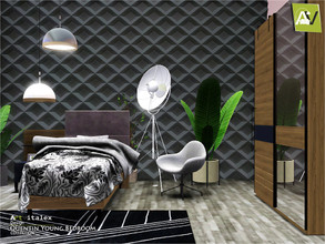 Sims 3 — Quentin Young Bedroom by ArtVitalex — - Quentin Young Bedroom - ArtVitalex@TSR, Dec 2019 - All objects are