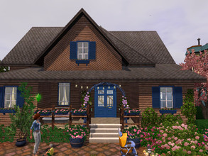 Sims 3 — Le Vieux moulin no CC by sgK452 — This cottage has been made into a modern and comfortable home. On the floor 2