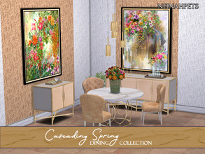 Sims 4 — Cascading Spring Dining Collection {MESH REQUIRED} by neinahpets — A beautiful collection of spring themed