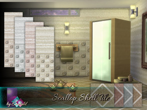 Sims 4 — Scallop Shell Tile by Emerald — Scallop shell tile is a very unique ocean tile with a wonderful design for