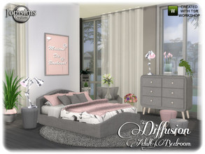 Sims 4 — diffusion adult bedroom by jomsims — diffusion adult bedroom for your sims . comfort and modernity. double bed.