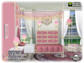 Sims 4 — Dadona kids bedroom by jomsims — Dadona kids bedroom A corner of princess. In 4 shades wood, and colors. All the