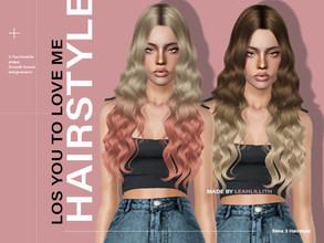 Sims 3 — leahLillith Lose You To Love Me by Leah_Lillith — Lose You To Love Me Hairstyle All LODs Smoth Bones hope you