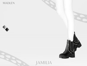 Sims 4 — Madlen Jamilia Boots by MJ95 — Mesh modifying: Not allowed. Recolouring: Allowed (Please add original link in