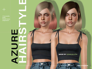 Sims 3 — LeahLillith Azure Hair by Leah_Lillith — Azure Hair All LODs Smooth bones Custom CAS thumbnail hope you will
