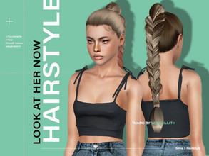 Sims 3 — LeahLillith Look At Her Now Hair by Leah_Lillith — Look At Her Now Hair All LODs Smooth bones Custom CAS