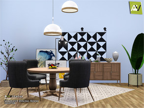 Sims 3 — Waquoit Dining Room by ArtVitalex — - Waquoit Dining Room - ArtVitalex@TSR, Dec 2019 - All objects are