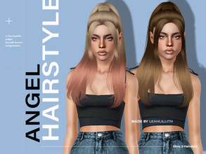 Sims 3 — LeahLillith Angel Hair by Leah_Lillith — Angel Hair All LODs Smooth bones Custom CAS thumbnail hope you will