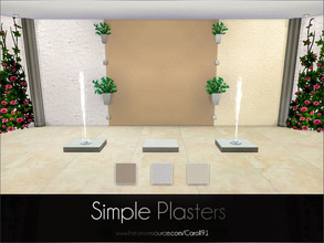 Sims 4 — Simple Plasters by Caroll912 — The set of 3 textured, warm and cool-toned plaster walls. Suitable for indoor and
