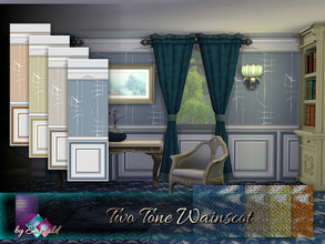 Sims 4 —  Two Tone Wainscot by Emerald — This wainscot with two tones provide a warm high-end appeal to your walls.