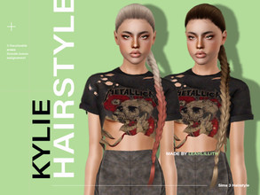 Sims 3 — LeahLillith Kylie Hair by Leah_Lillith — Kylie Hair All LODs Smooth bones Custom CAS thumbnail