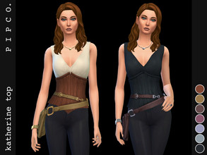 Sims 4 — pipco - katherine top. by Pipco — a stylish top with a side bag. 8 swatches base game compatible ea mesh edit