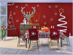 Sims 4 — Navidad 2019 by Pilar — did you see the christmas table