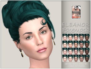 Sims 4 — Eleanor facemask by BAkalia — :) Realistic facemask for female sims. It works like a non-default skin but