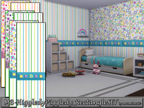 Sims 4 — MB-HiggledyPiggledy_RectangleSET by matomibotaki — MB-HiggledyPiggledy_RectangleSET, 2 cute wallpapers for the