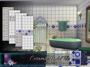 Sims 4 — Ceramic Field Tile in white by Emerald — Ceramic Field tiles provide the perfect backdrop for your elegant