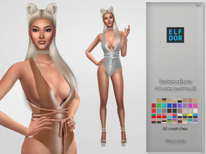 Sims 4 — Belaloallure Anura Swimsuit RC by Elfdor — Its a standalone recolor of Belaloallure swimsuit and you will need