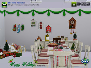 Sims 3 — kardofe_Happy Holidays by kardofe — Dining room to celebrate your sims' Christmas meals, with elegant furniture