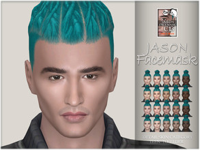 Sims 4 — Jason facemask by BAkalia — :) Realistic facemask for male sims. It works like a non-default skin but affects