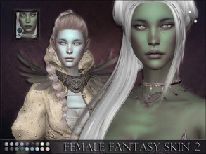 Sims 4 — Female Fantasy Skin 2 by RemusSirion — This is a female skin that comes in 18 fantasy colours. It is based on
