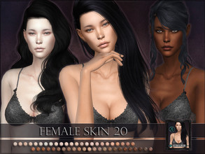 Sims 4 — Female skin 20 by RemusSirion — Full-coverage Female Skin 20 !!! UPDATE 2010-01-10: added more colours with