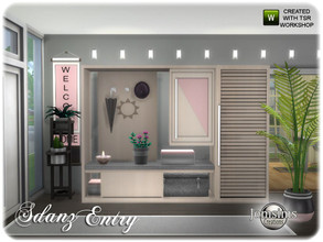 Sims 4 — Stanz Entry by jomsims — Stanz Entry for your sims. all the set in 4 colors and wood. environement 10 for the