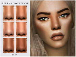 Sims 4 — Helena Nose Mask by -Merci- — New Nose Mask for Sims4! -Nose Mask is for female in 25 colours. -HQ mod