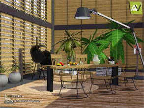Sims 3 — Owens Outdoor Dining by ArtVitalex — - Owens Outdoor Dining - ArtVitalex@TSR, Dec 2019 - All objects are