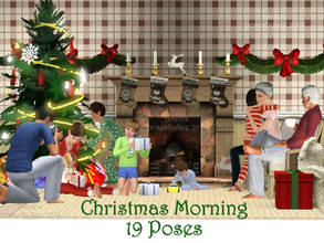 Sims 3 — Christmas Morning by jessesue2 — Christmas morning with the family is always a special time of year. Here are 19