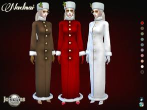 Sims 4 — Naelmai  coat by jomsims — Naelmai coat for her in 10 shades. long christmas coat. To be in the spirit of