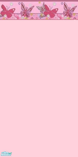 Light Pink Barbie Butterfly Wallpaper