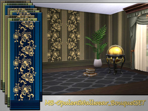 Sims 4 — MB-OpulentWallwear_BouquetSET by matomibotaki — MB-OpulentWallwear_BouquetSET, elegant wallpaper set with