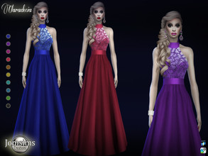 Sims 4 — claradecia dress by jomsims — claradecia dress for her in 8 shades long evening dress. the top of the dress,