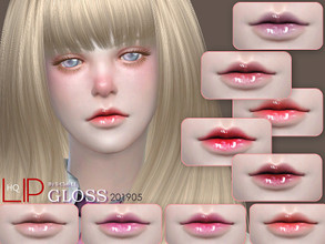 Sims 4 — S-Club LL ts4 Lipstick 201905 by S-Club — Lipstick, 18 swatches, hope you like, thank you.
