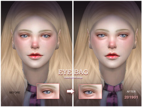 Sims 4 — S-Club LL thesims4 Eyebag 201901 by S-Club — Eyebag for female and male,enjoy You can find it in Eye shadow