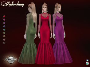 Sims 4 — Asdorelany dress by jomsims — Asdorelany dress for her in 9 shades long semi mermaid dress. top of dress and