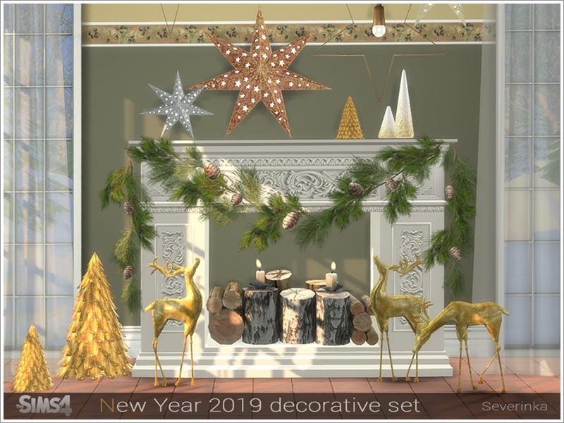 Severinka S New Year 2019 Decorative Set