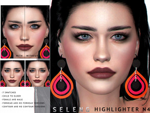 Sims 4 — Highlighter N4 by Seleng — Female l Male Child to Elder 7 variations Forhead and without forhead versions With