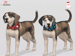 Sims 4 — Bandana for Small Dogs - Cats & Dogs needed by remaron — -09 Swatches available -Custom CAS thumbnail -